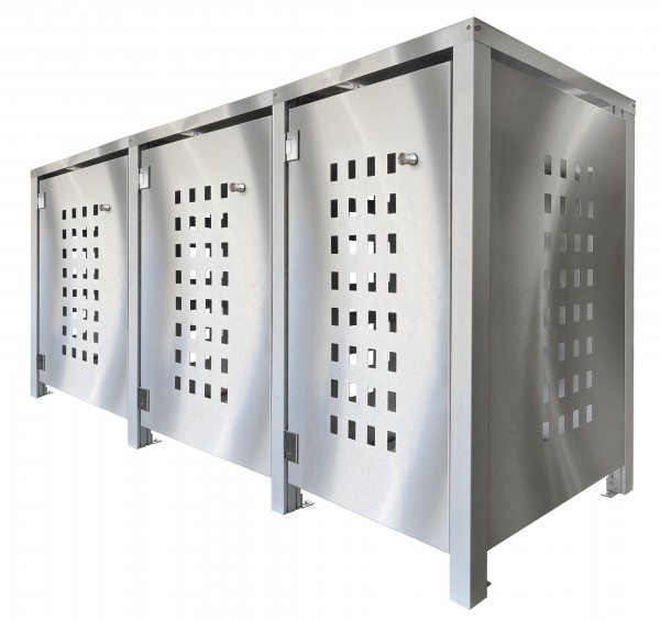 MB3 Müllbox Edelstahl mit Lochdesign