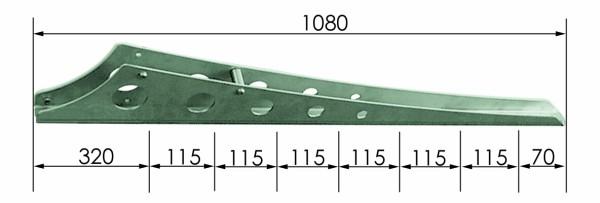 B26 Balkonstütze 1080x2mm V2A