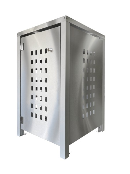 MB1 Müllbox Edelstahl mit Lochdesign