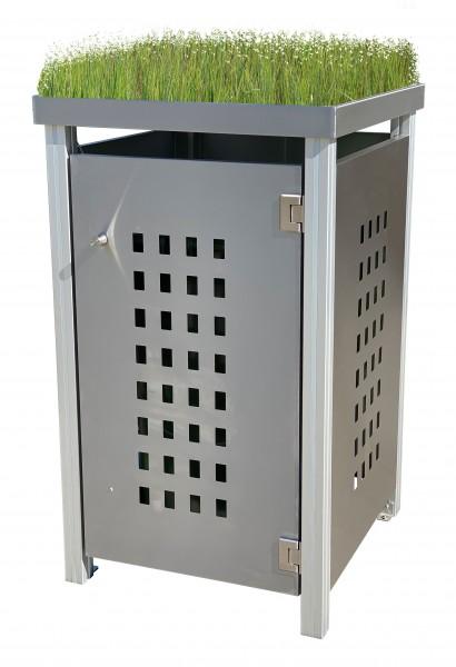MB11 Müllbox Edelstahl mit Lochdesign