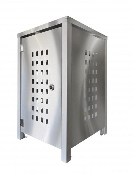 Müllbox Edelstahl mit Lochdesign Musterteil