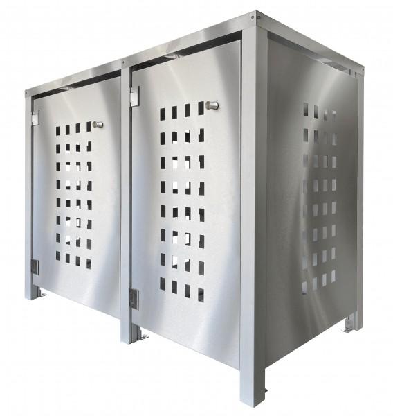 MB2 Müllbox Edelstahl mit Lochdesign