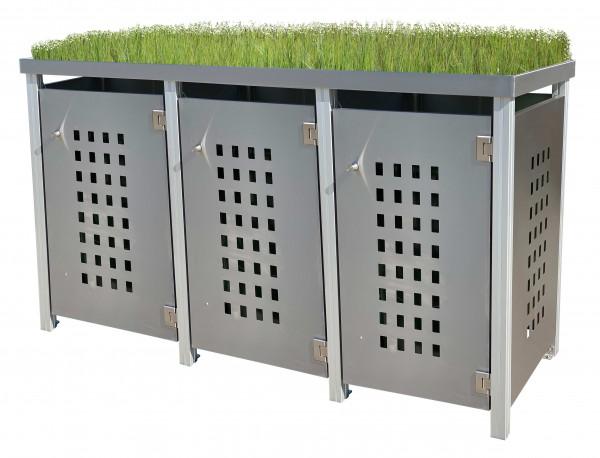 MB13 Müllbox Edelstahl mit Lochdesign